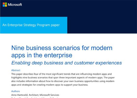Nine business scenarios for modern applications