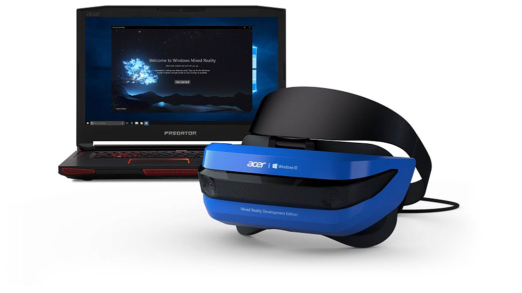 MR headset with Windows 10 device