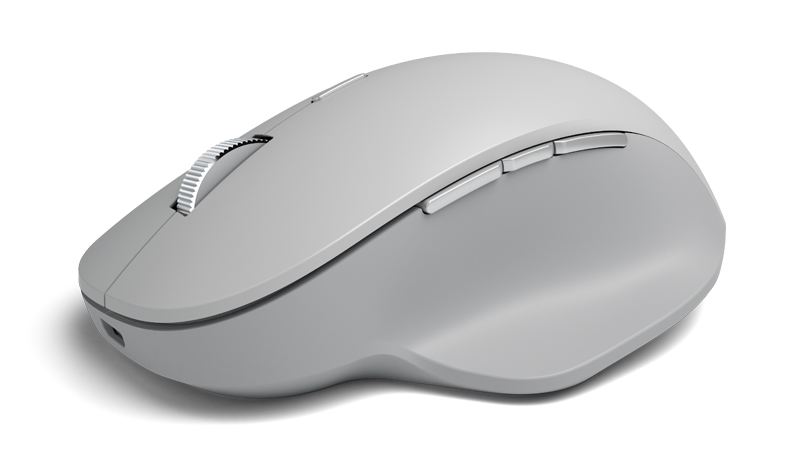 The Surface Precision Mouse features scrolling and three customisable thumb buttons.