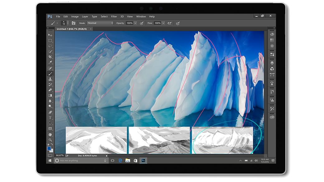 Adobe Photoshop CC app on Surface