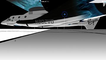 Virgin Galactic spacecraft in flight