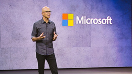 Play video, Satya Nadella, Microsoft Envision Keynote