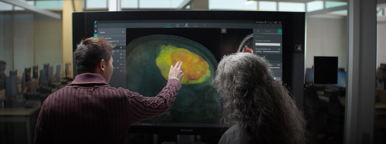 Doctors examining medical imagery using an image analysis tool