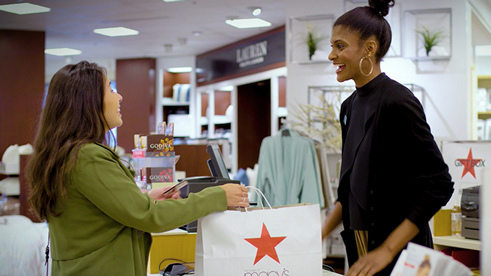 Customer interacting with a Macy's representative