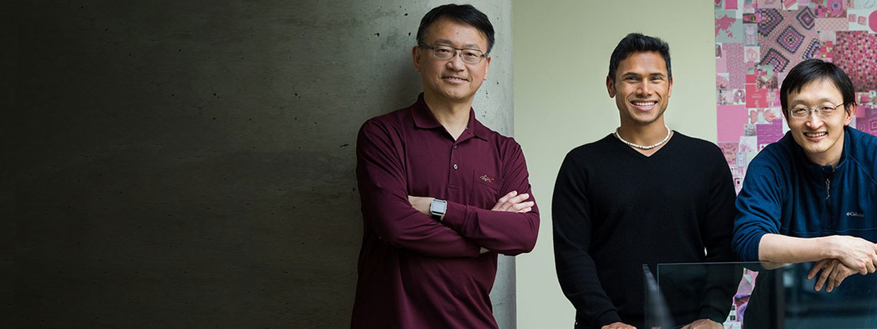 Image of Microsoft researchers Rangan Majumder, Yi‐Min Wang, and Jianfeng Gao