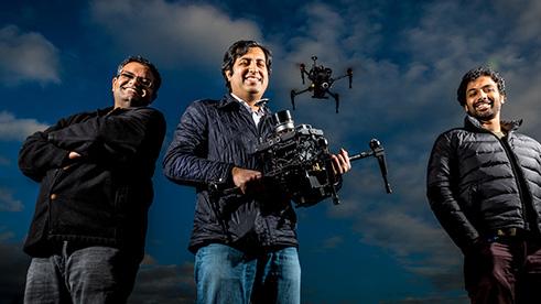 Microsoft researchers Shital Shah, Ashish Kapoor, and Debadeepta Dey
