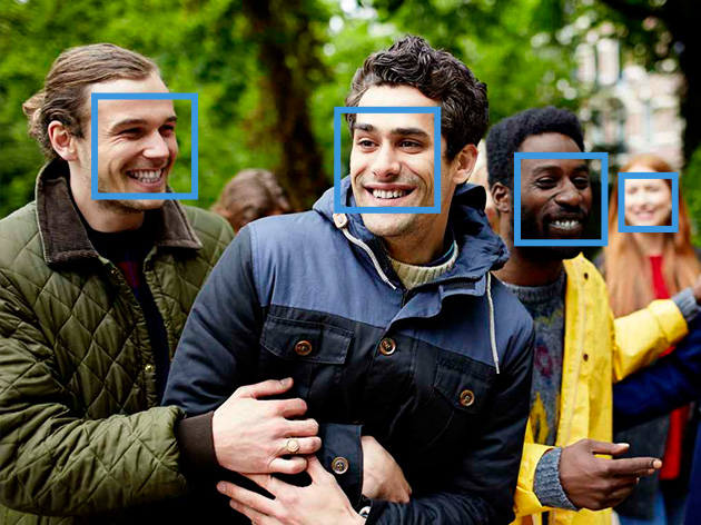 Cognitive services used to identify faces