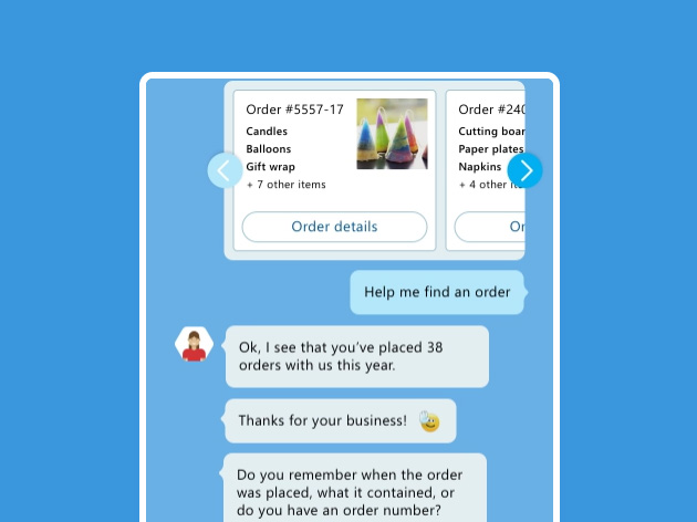 Customer Azure Bot interaction