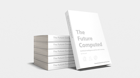 "A stack of ""The Future Computed"" books"