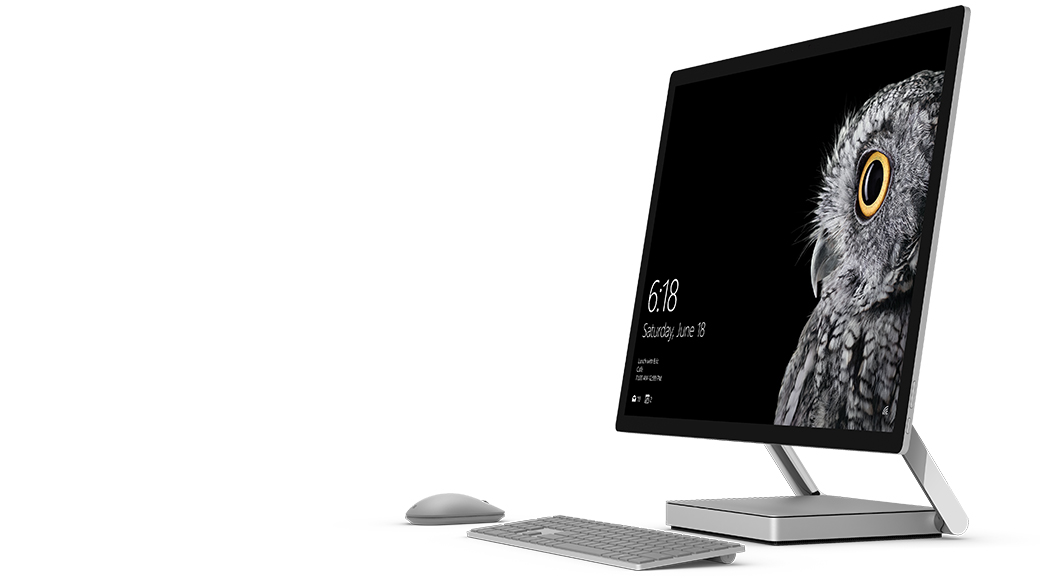 Surface Studio with keyboard and mouse