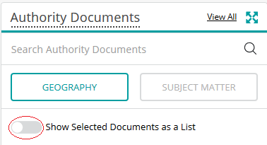Show Selected Documents as a List