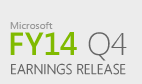 Microsoft Fiscal Year 2014 Fourth Quarter Earnings