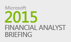 Microsoft Financial Analyst Briefing 2015
