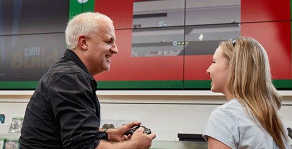 Family gaming at Microsoft Store