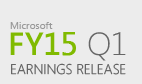 Microsoft Fiscal Year 2015 First Quarter Earnings Conference Call