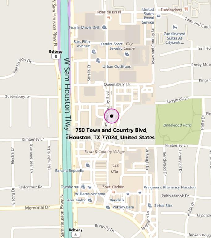 Map of MTC Houston
