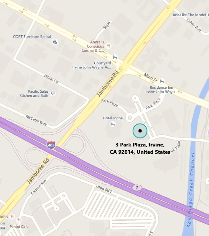 Map of MTC Irvine