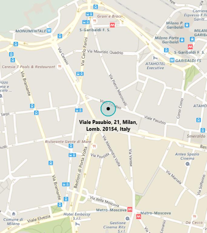 Map of MTC Milan