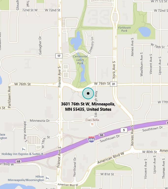 Map of MTC Minneapolis