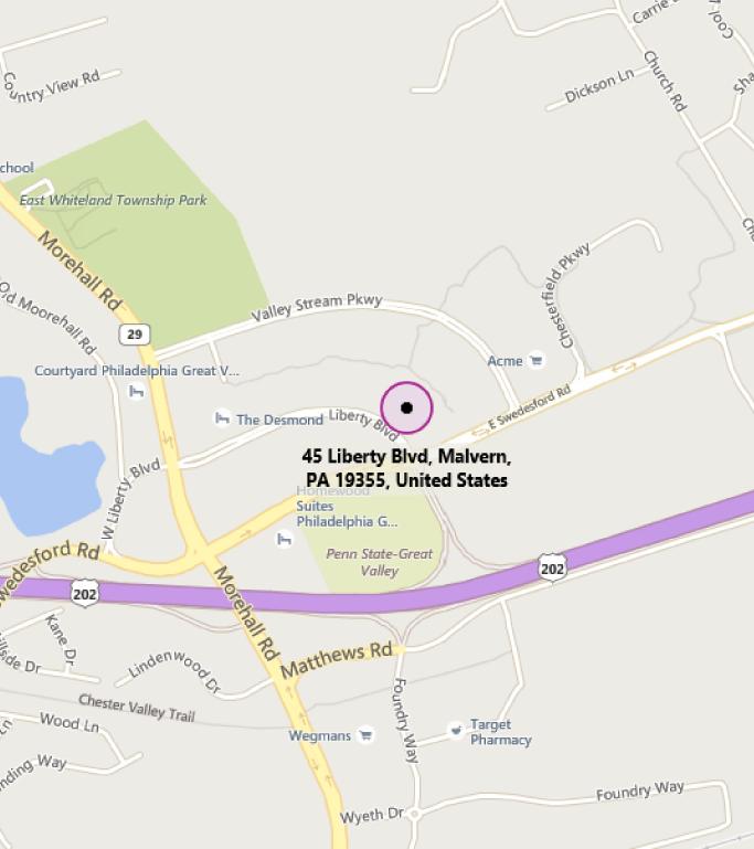 Map of MTC Philadelphia