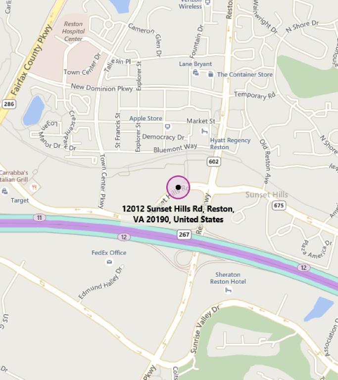 Map of MTC Reston