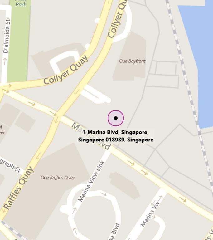 Map of MTC Singapore