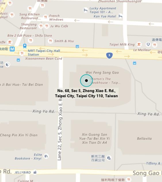 Map of MTC Taipei