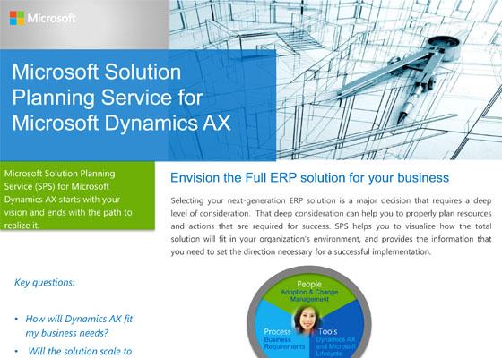 Microsoft Solution Planning Service