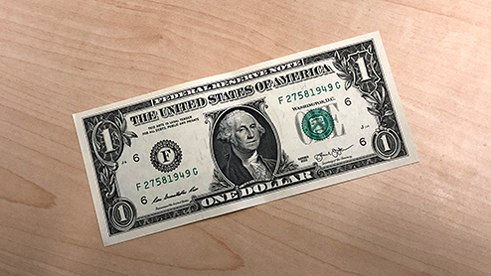Image of a US one-dollar bill