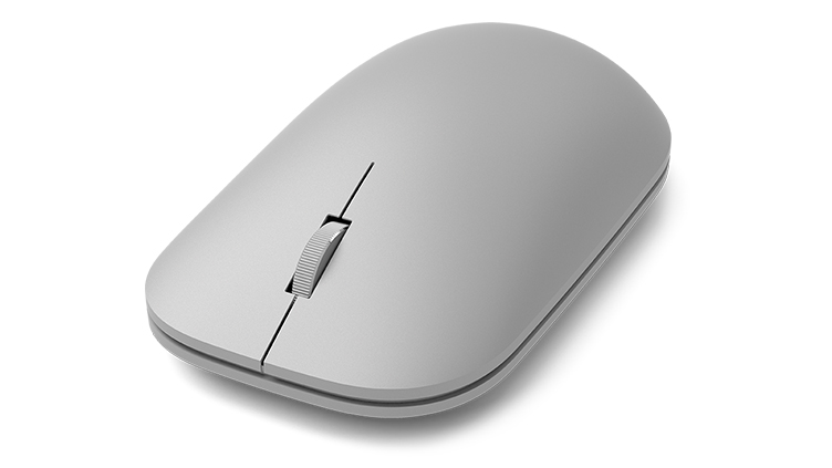 Detail of Surface Mouse as seen from the front left