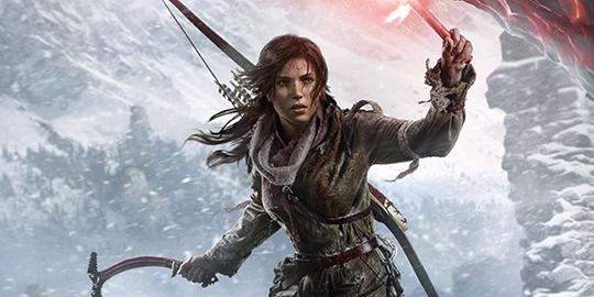 Lara Croft in Tomb Raider Game.