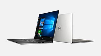 Dell XPS laptops pictured back to back