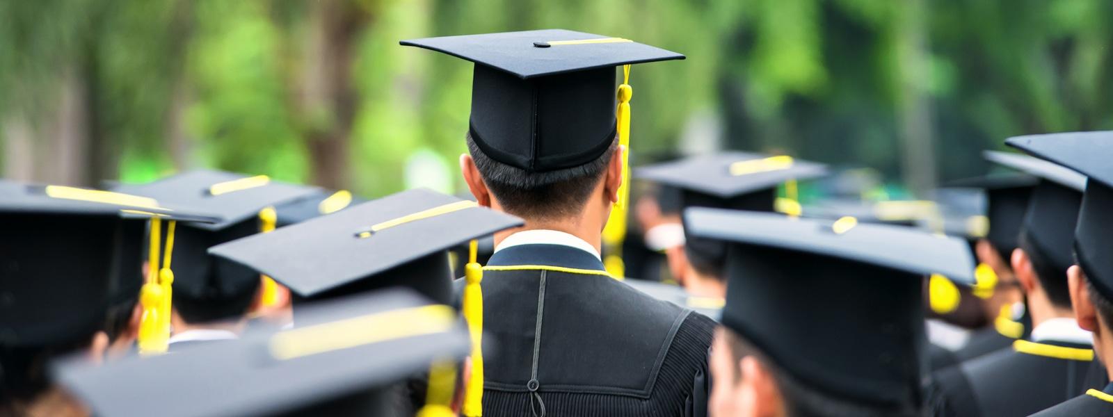 Student at a graduation