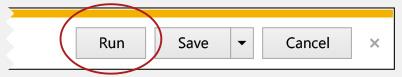 Click run to set default