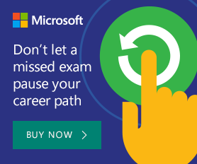 Don't let a missed exam pause your career path. Buy now