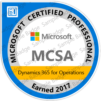 MCSA: Microsoft Dynamics 365 For Operation Certification | Microsoft