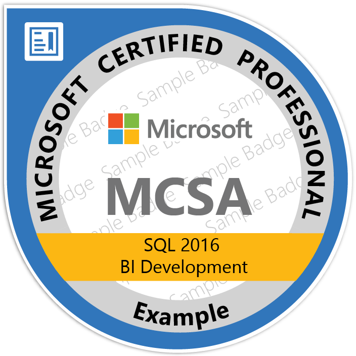 Mcsa Sql 2016 Business Intelligence Cert