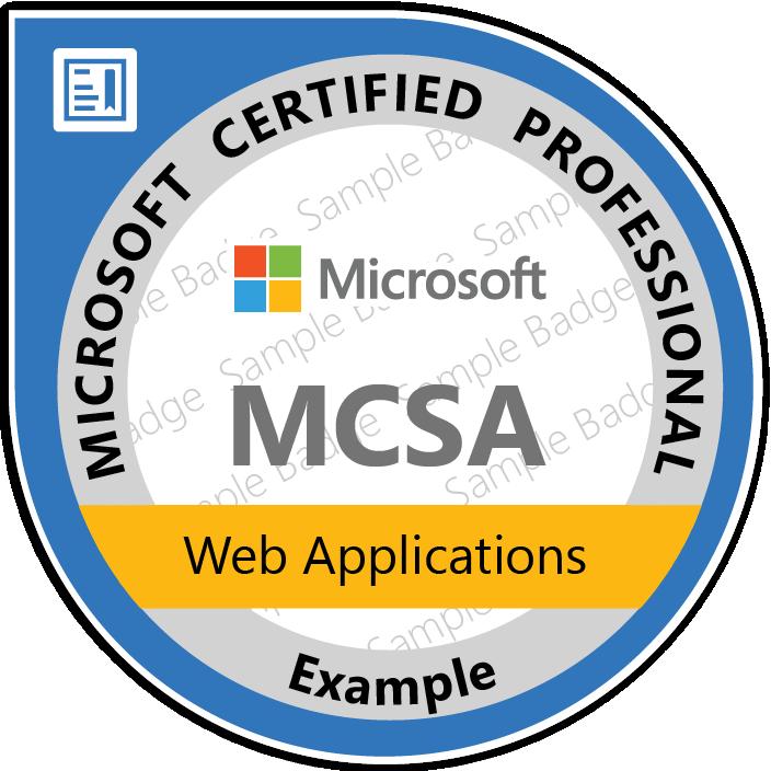 Certificate Microsoft - MCSA: Web Applications