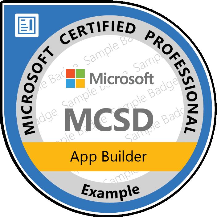 Certificate Microsoft - MCSD: App Builder