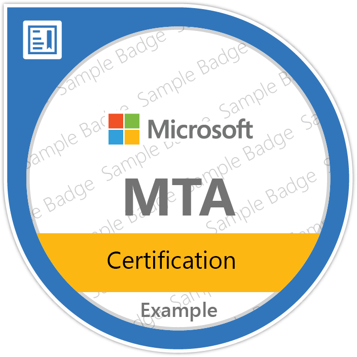 Mta Certification Summary Microsoft Learning