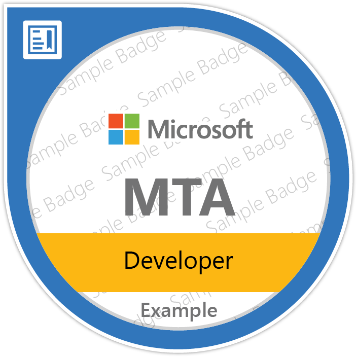 Certificate Microsoft - MTA: Developer