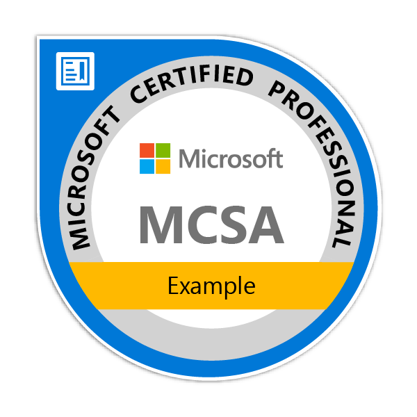 sample badge mcsa