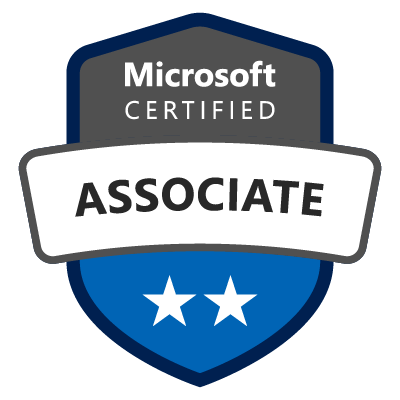 sample badge microsoft certified associate