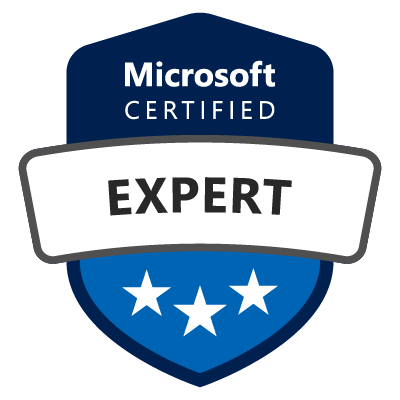 sample badge microsoft certified expert