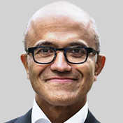 Head shot image of Satya Nadella