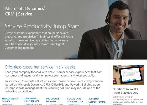 Service Productivity Jump Start