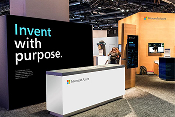 Microsoft Booth at Event