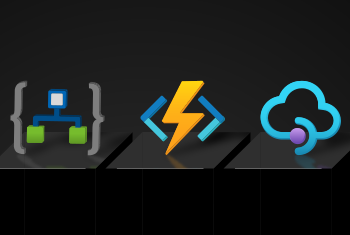 Illustration of server icons connected together