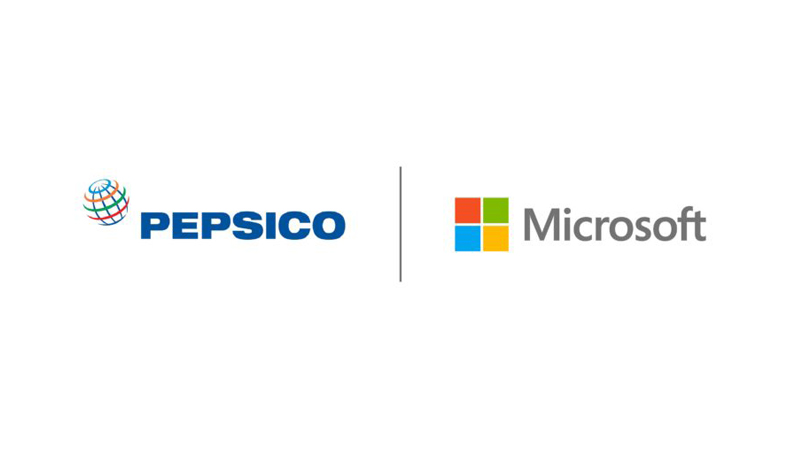 PepsiCo and Microsoft logos side-by-side