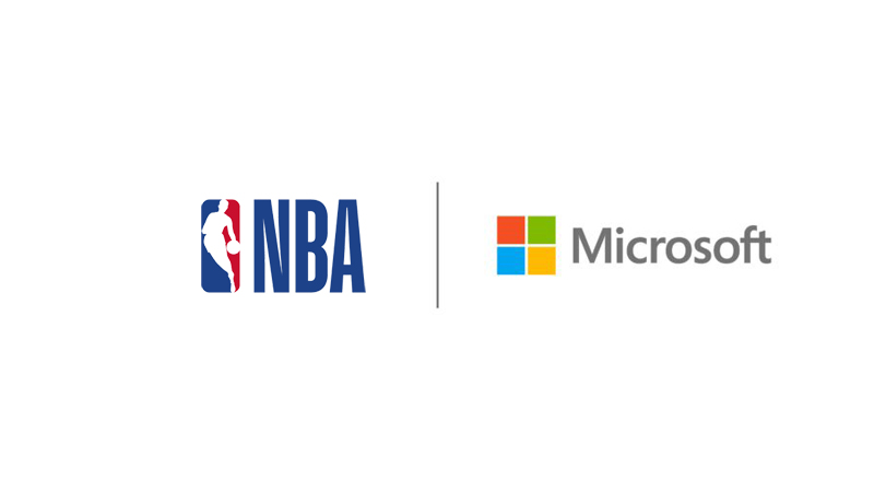 NBA and Microsoft logos side-by-side